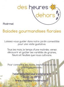 flyer balade gourmandises florales