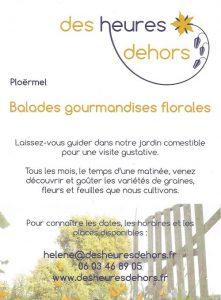 flyer balade gourmandises florales